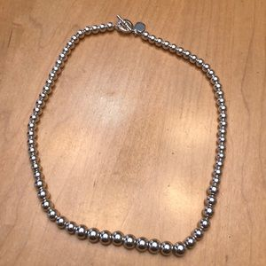 Ralph Lauren Beaded Silver Necklace